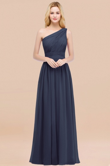 Chic One-shoulder Sleeveless Burgundy Chiffon Bridesmaid Dresses Online_39