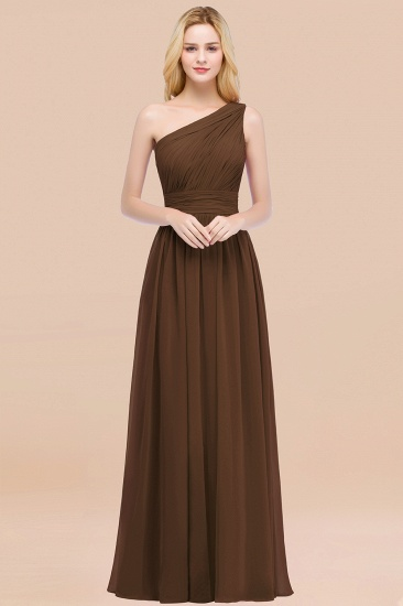 Chic One-shoulder Sleeveless Burgundy Chiffon Bridesmaid Dresses Online_12
