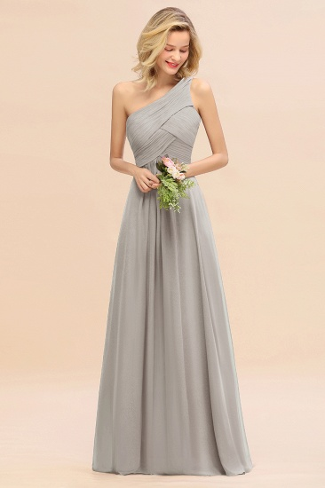 Chic One Shoulder Ruffle Grape Chiffon Bridesmaid Dresses Online_30