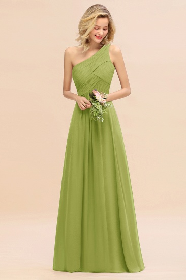 Chic One Shoulder Ruffle Grape Chiffon Bridesmaid Dresses Online_34
