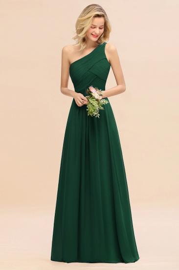 Chic One Shoulder Ruffle Grape Chiffon Bridesmaid Dresses Online_31