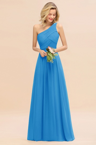 Chic One Shoulder Ruffle Grape Chiffon Bridesmaid Dresses Online_25