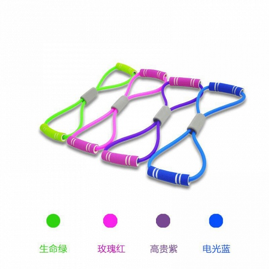 BMbridal 5 Pcs Indoor Fitness Portable Latex Figure 8 Tension Rope Figure Eight Puller Yoga_7