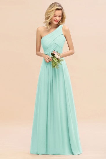 Chic One Shoulder Ruffle Grape Chiffon Bridesmaid Dresses Online_36