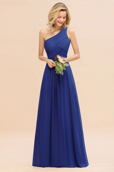 Chic One Shoulder Ruffle Grape Chiffon Bridesmaid Dresses Online_26
