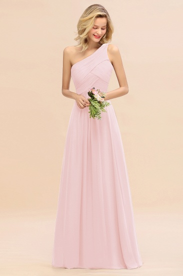Chic One Shoulder Ruffle Grape Chiffon Bridesmaid Dresses Online_3