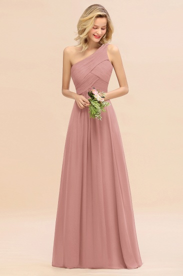 Chic One Shoulder Ruffle Grape Chiffon Bridesmaid Dresses Online_50