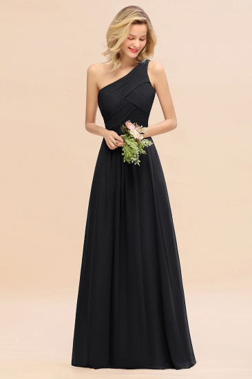 Chic One Shoulder Ruffle Grape Chiffon Bridesmaid Dresses Online_29