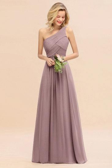 Chic One Shoulder Ruffle Grape Chiffon Bridesmaid Dresses Online_37