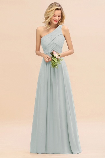 Chic One Shoulder Ruffle Grape Chiffon Bridesmaid Dresses Online_38