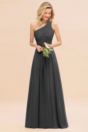 Chic One Shoulder Ruffle Grape Chiffon Bridesmaid Dresses Online_46