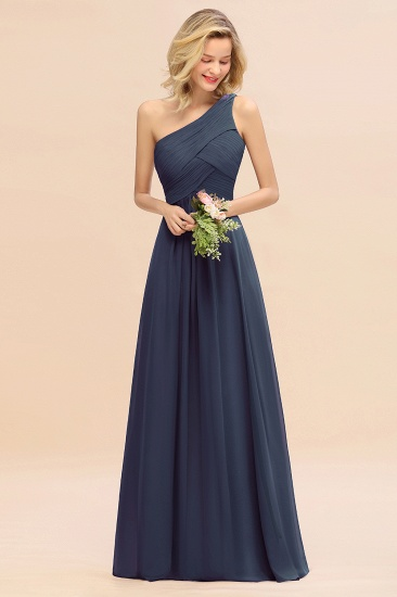 Chic One Shoulder Ruffle Grape Chiffon Bridesmaid Dresses Online_39