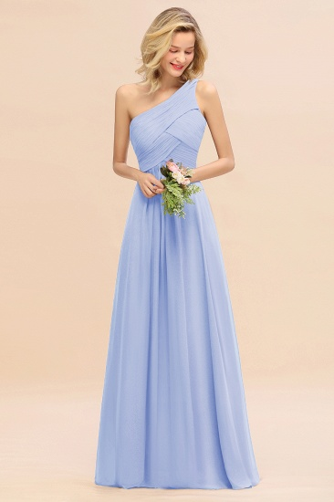 Chic One Shoulder Ruffle Grape Chiffon Bridesmaid Dresses Online_22