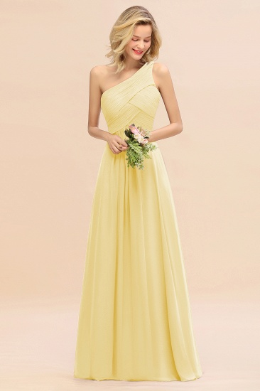 Chic One Shoulder Ruffle Grape Chiffon Bridesmaid Dresses Online_18