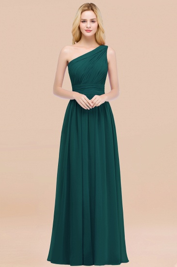 Chic One-shoulder Sleeveless Burgundy Chiffon Bridesmaid Dresses Online_33