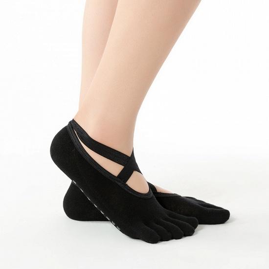 BMbridal 3 Pairs Comfortable Cotton Long One-size Yoga Socks Five-finger Wear-resistant Non-slip Four Season Breathable Split Toe Point_6