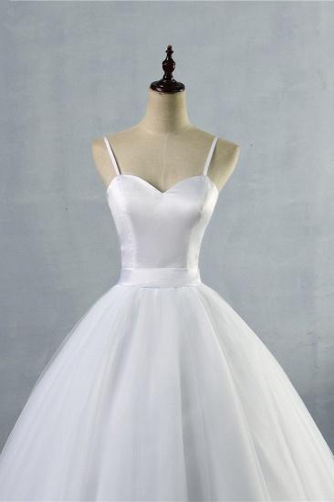 BMbridal Glamorous Spaghetti Straps Sweetheart Wedding Dresses White Sleeveless Bridal Gowns Online_5