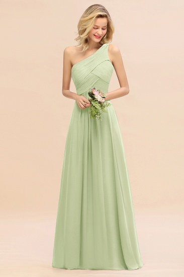 Chic One Shoulder Ruffle Grape Chiffon Bridesmaid Dresses Online_35