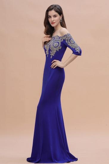 BMbridal Mermaid Off-Shoulder Chiffon Lace Half Sleeve Evening Dress_10