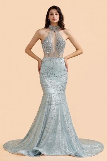 BMbridal Luxurious Halter Rhinestones Prom Dress Mermaid Long Online_5