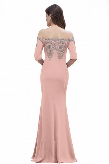 BMbridal Mermaid Off-Shoulder Chiffon Lace Half Sleeve Evening Dress_18