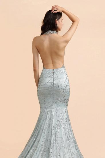BMbridal Luxurious Halter Rhinestones Prom Dress Mermaid Long Online_8