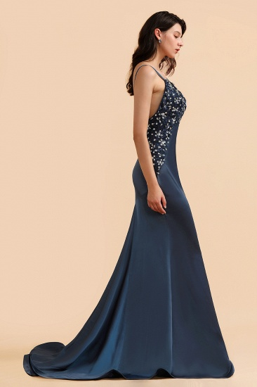 BMbridal Affordable Spaghetti Straps V-Neck Prom Dresses Sleeveless Appliques Beadings Party Dresses Online_6