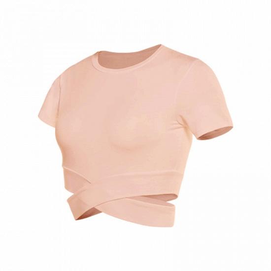 BMbridal New Sport Crop Top Women Fashion Seamless Yoga Shirts High Elastic Breathable Short Sleeve Female Sportswear_2