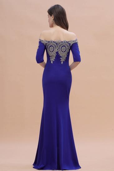 BMbridal Mermaid Off-Shoulder Chiffon Lace Half Sleeve Evening Dress_6