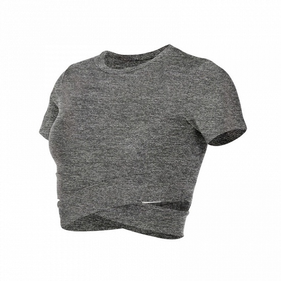 BMbridal New Sport Crop Top Women Fashion Seamless Yoga Shirts High Elastic Breathable Short Sleeve Female Sportswear_6
