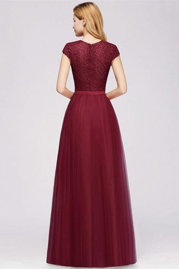 BMbridal A-line Jewel Tulle Lace Bridesmaid Dress_9