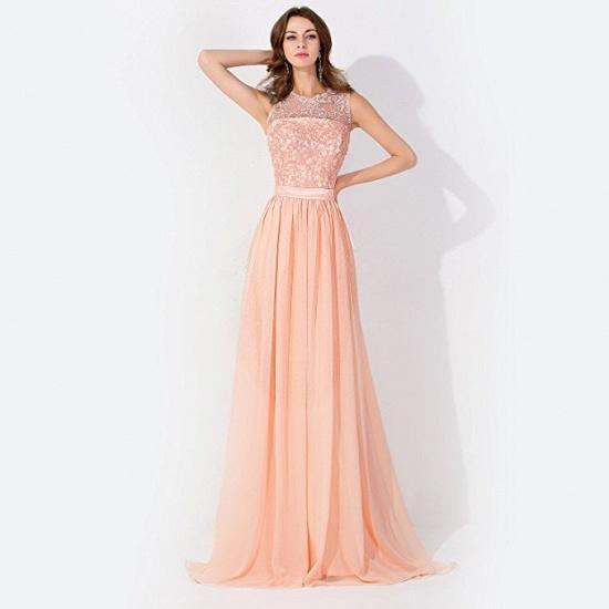 BMbridal A-line Chiffon Tulle Lace Ruffles Bridesmaid Dress_1