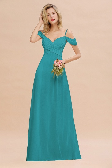 BMbridal Off-the-Shoulder Sweetheart Ruched Long Bridesmaid Dress Online_32