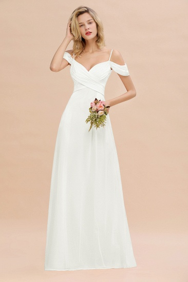 BMbridal Off-the-Shoulder Sweetheart Ruched Long Bridesmaid Dress Online_2