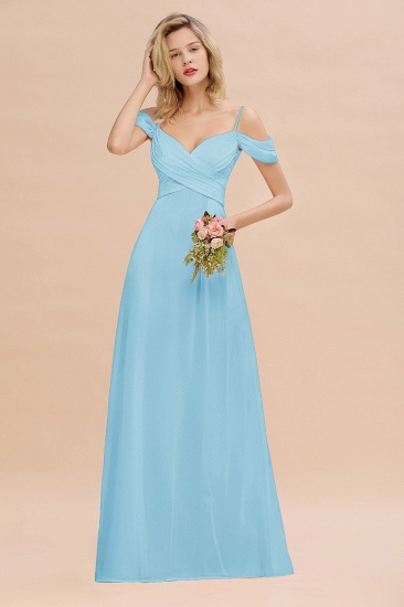 BMbridal Off-the-Shoulder Sweetheart Ruched Long Bridesmaid Dress Online_23