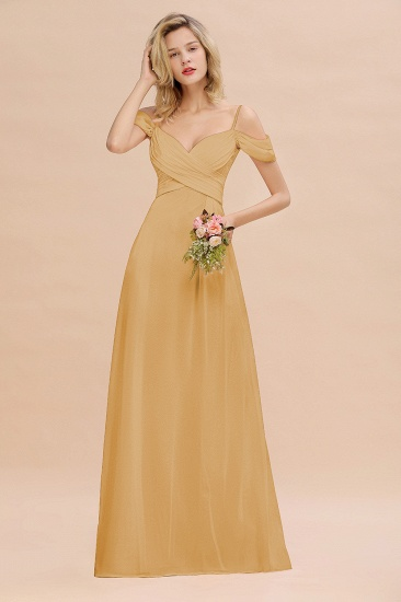 BMbridal Off-the-Shoulder Sweetheart Ruched Long Bridesmaid Dress Online_13