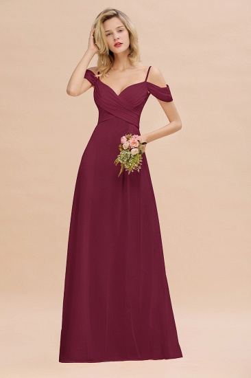 BMbridal Off-the-Shoulder Sweetheart Ruched Long Bridesmaid Dress Online_44