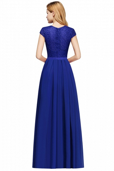 BMbridal A-line Jewel Short Sleeves Chiffon Lace Bridesmaid Dress_9