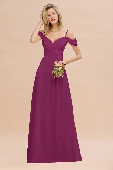 BMbridal Off-the-Shoulder Sweetheart Ruched Long Bridesmaid Dress Online_42