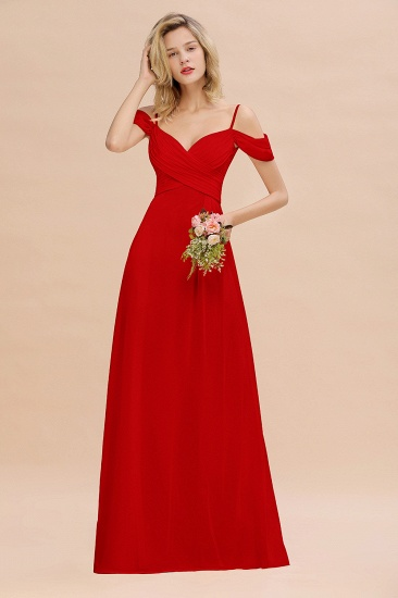 BMbridal Off-the-Shoulder Sweetheart Ruched Long Bridesmaid Dress Online_8