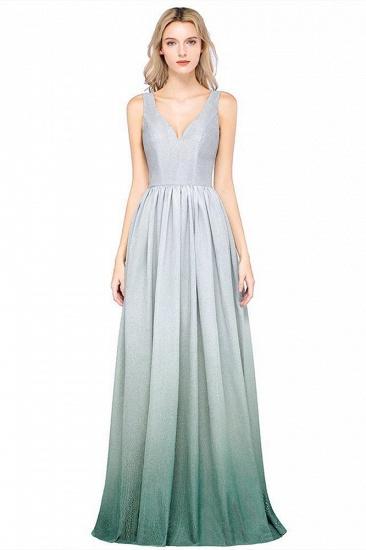 BMbridal A-line Ruffles V-Neck Long Evening Dress_1
