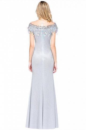 BMbridal Elegant Jewel Short Sleeves Sequins Evening Dress with Tassels_3