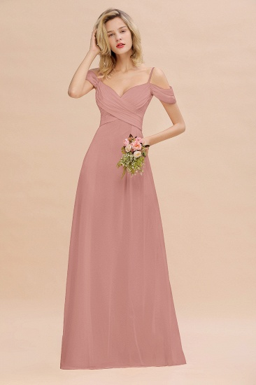 BMbridal Off-the-Shoulder Sweetheart Ruched Long Bridesmaid Dress Online_50