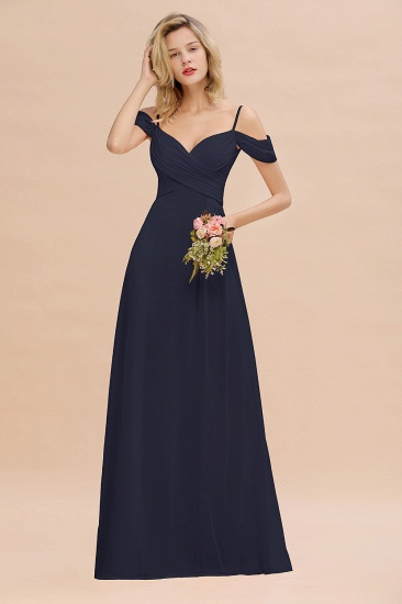 BMbridal Off-the-Shoulder Sweetheart Ruched Long Bridesmaid Dress Online_28