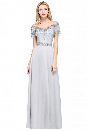 BMbridal A-line Jewel Short Sleeves Sequins Evening Dress with Tassels_1