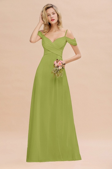 BMbridal Off-the-Shoulder Sweetheart Ruched Long Bridesmaid Dress Online_34