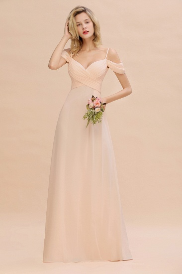 BMbridal Off-the-Shoulder Sweetheart Ruched Long Bridesmaid Dress Online_5