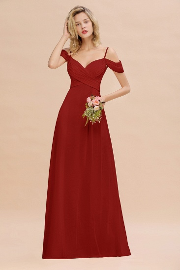 BMbridal Off-the-Shoulder Sweetheart Ruched Long Bridesmaid Dress Online_48