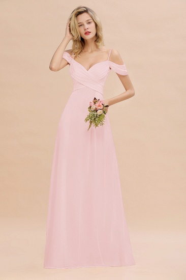 BMbridal Off-the-Shoulder Sweetheart Ruched Long Bridesmaid Dress Online_3