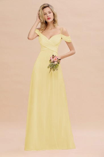BMbridal Off-the-Shoulder Sweetheart Ruched Long Bridesmaid Dress Online_18